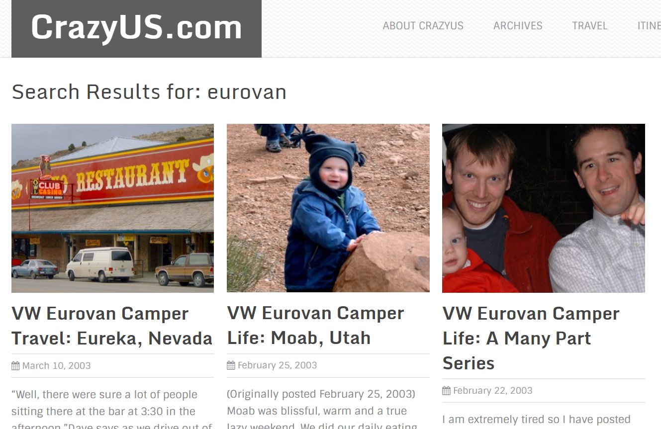 Crazy.us Eurovan travel blog