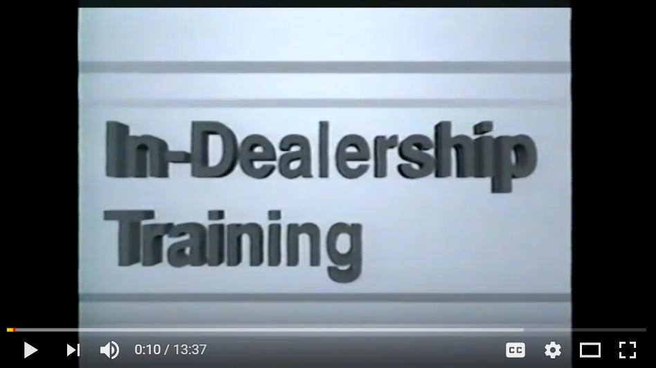 1993 Volkswagen T4 EuroVan In Dealer Training