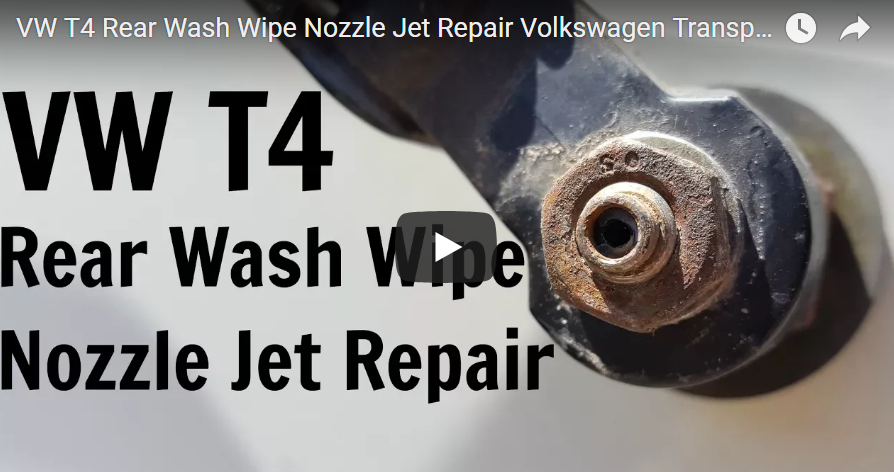 Rear wiper sprayer nozzle fix