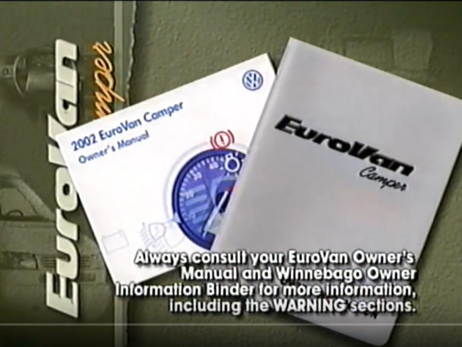 Eurovan Camper dealer video (Winnebago)