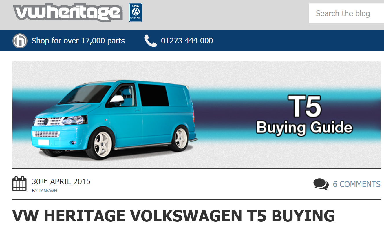 T5 (UK newer model Eurovan) buying guide