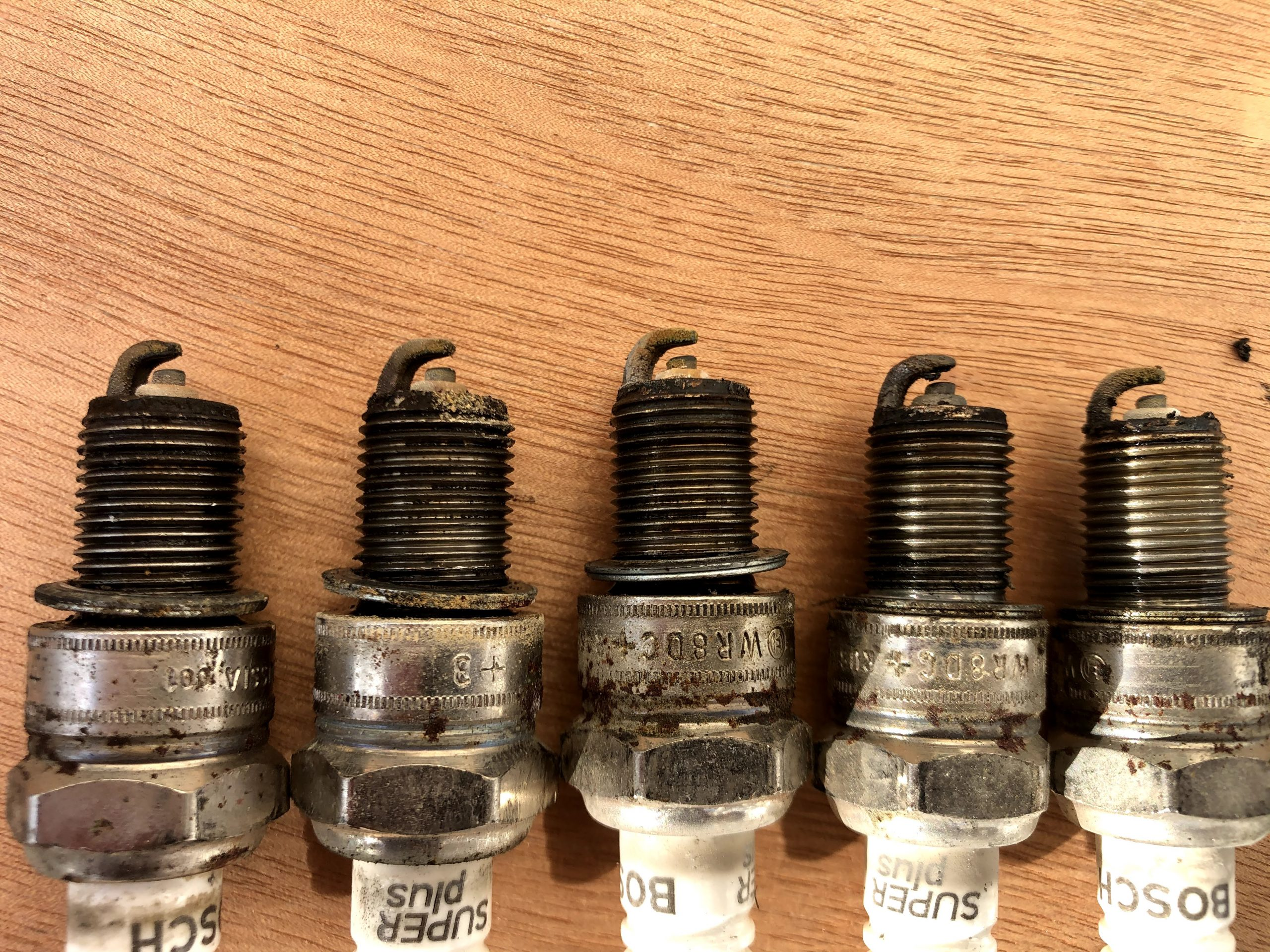 Replaced spark plugs – 1993 EV